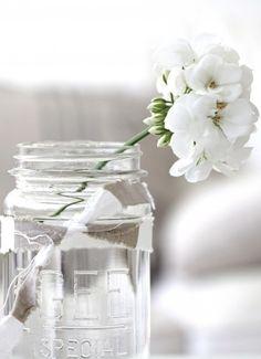 simple mason jar and flower