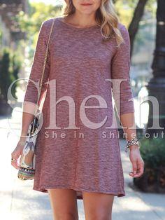 Shop Red Crew Neck Shift Dress online. SheIn offers Red Crew Neck Shift Dress & more to fit your fashionable needs.