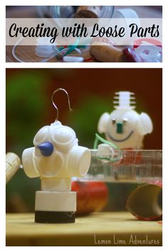 Creating with Loose Parts: How cool are these Eggbots! My boys love these!