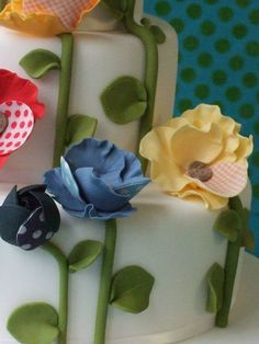 Makiko Searle - Colorful Poppy, Maki's wedding cake (detail)