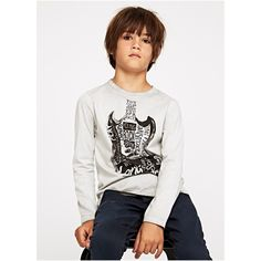 camiseta pepe jeans guitarra manga larga. moda juvenil