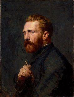 I believe this is the most honest portrait of van Gogh of all I've seen. John Peter Russell: Portrait of Vincent van Gogh, Oil on canvas. The Van Gogh Museum, Amsterdam. Vincent Van Gogh, Van Gogh Museum, Van Gogh Arte, John Peter, Peter Vincent, Van Gogh Paintings, Portrait Paintings, Art Van, Pierre Auguste Renoir