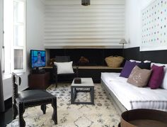 canape for family room: Source: Marrakech Modern: A Remodeled Riad for Rent