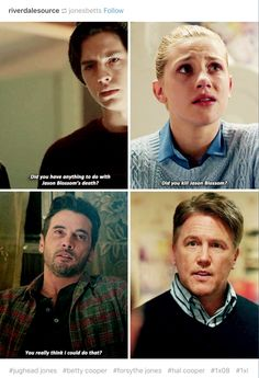 Riverdale I swear they both asked their dad's now they same thing. I'm just over here though wonder why jughead's dad has Jason's jacket and who the hell killed him!