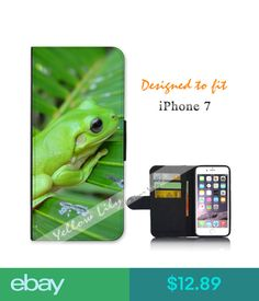 Cases, Covers & Skins For Apple Iphone 7 Wallet Flip Phone Case Cover Green Tree Frog Y00451 #ebay #Electronics