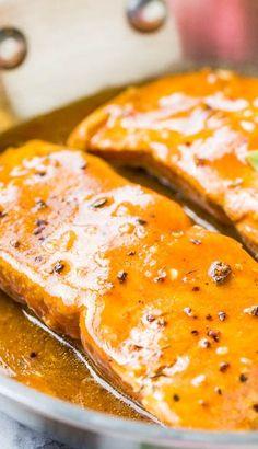 Maple Barbeque-Glazed Salmon