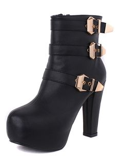 Shop Unique Chunky Heel Platform Euramerican Metal New Arrival Boots on sale at Tidestore with trendy design and good price. Come and find more fashion Ankle Boots here. Shoe Boots, Ankle Boots, Shoes, Metal News, Cheap Boots, Boots Online, Boots For Sale, Chunky Heels, Fashion Accessories