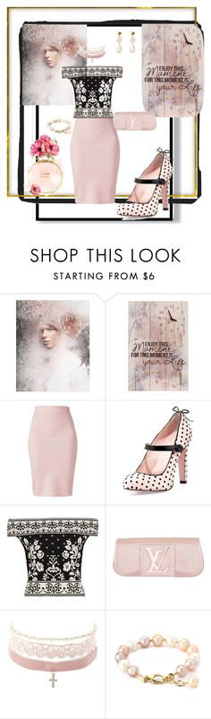 """""""Sweet pinky girl!!"""" by jaja8x8 ❤ liked on Polyvore featuring Winser London, RED Valentino, Alexander McQueen, Louis Vuitton, Charlotte Russe and Chanel"""