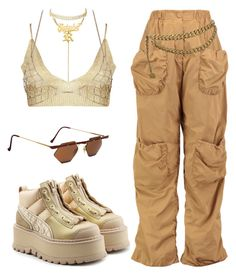 """Untitled #393"" by youraveragestyle ❤ liked on Polyvore featuring Eklexic, Boohoo, J.W. Anderson, Puma, Chanel and Charlotte Russe"