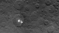 Ceres Bright Spots Keep Their Secret Even From miles Up. The brightest spots on dwarf planet Ceres are seen in this image taken by NASA's Dawn spacecraft on June 2015 Cosmos, Planeta Ceres, Norway Places To Visit, Dawn Images, Mystery Photos, Asteroid Belt, Space Probe, Nasa Photos, Candy