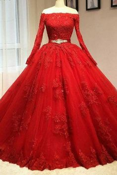 Shoulder Party Gown#ShoulderPartyGown Beaded Prom Dress#BeadedPromDress Red Lace Prom Dress#RedLacePromDress Custom Prom Dresses#CustomPromDresses