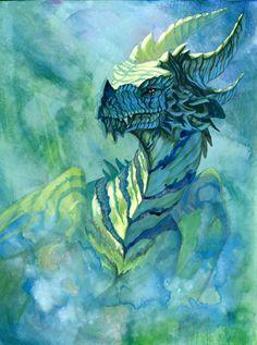 Forest Dragon by https://hibbary.deviantart.com on @DeviantArt