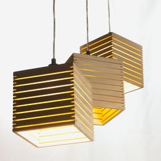 Cluster of Plywood Lamps from Tasmania