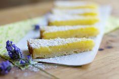 Lemon Bars in the Round