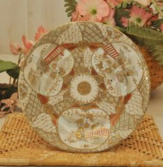 Antique Porcelain Nippon Plate  Circa 1900s by DLDowns on Etsy, $46.00