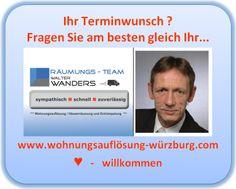 Wohnungsauflösung Würzburg und Umgebung mit Räumungs-Team Wanders