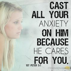 Daily Devotional - 3 Reasons To Cast All Anxiety On Jesus #Christianquote