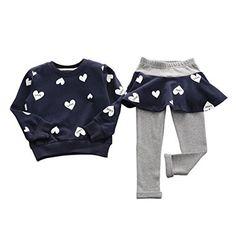 DAYSEVENTH Kid Girls Clothes Set Shirt Sweater+Pants Skirt Suit Outfit Size Details: Top: Size:3T Label Size:100 Bust:60CM/23.6″ Shoulder:24CM/9.4″ Sleeve:32CM/12.6″ Length:39CM/15.4″ Height:100CM Size:4T Label Size:110 Bust:62CM/24.4″ Shoulder:25CM/9.8″ Sleeve:34CM/13.4″ Length:41CM/16.1″ Height:110CM Size:5T Label Size:120 Bust:64CM/25.2″ Shoulder:26CM/10.2″ Sleeve:36CM/14.2″ Length:43CM/16.9″ Height:1