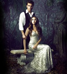 Stefan and Elena.I loved the vampire diaries.Please check out my website thanks. www.photopix.co.nz