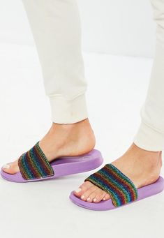 Missguided - Purple Rainbow Sliders