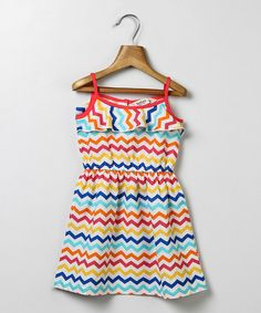 Look at this Red & Yellow Chevron Dress - Infant, Toddler & Girls on #zulily today!
