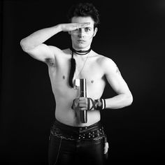 Black and white portrait of Adam Ant, taken in London. Photo by Chris Duffy, 1978 Adam Ant, Ant Music, Brian Duffy, David Bailey, New Romantics, George Orwell, Rock Legends, Black And White Portraits, Post Punk