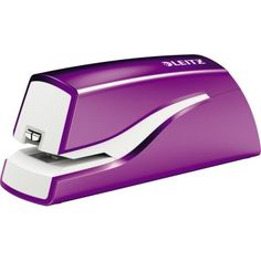 Das Leitz Elektroheftgerät NeXXt aus der WOW-Serie in der trendigen Farbe violett metallic. Ideal für häufiges Heften. In auffallenden Farben und modernem Design - ein echter Hingucker auf jedem Schreibtisch. Für einfaches und einhändiges Bedienen. #violet #purple #Leitz Office Supplies, Shopping, Table Desk, Contemporary Design