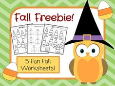 5 fun pages of Fall Worksheets for Kindergarten and 1st grade!Be sure to check out my other Fall Products!First Grade Fall Morning Work: October-November, click HEREKindergarten Fall Morning Work: October-November, click HERE1. Alphabet Candy Corn: Writing Matching Uppercase and Lowercase Letters2.