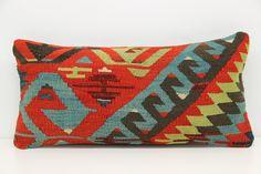 Handmade cushion cover 10x20 inch Turkish kilim pillow cover Oblong pillow cushion lumbar pillowcase Decorative kilim pillow cover YH-00A168 by pillowsandrugs on Etsy