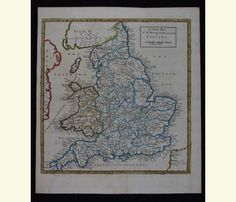 A New Map of the Rivers & Sea Coasts of England. 1720