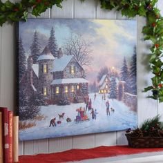 Christmas with the Family LED Canvas Art Print | Kirklands