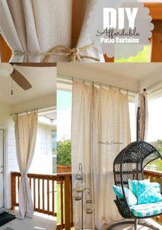 Balcony Privacy Ideas Apartment Pinterest Curtain