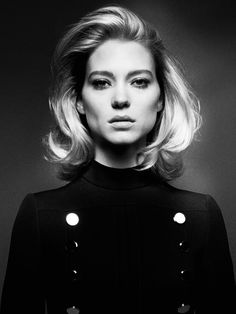 Vogue Paris April 2015 Model: Léa Seydoux Photographer: David Sims Fashion Editor: Emmanuelle Alt Hair: Paul Hanlon Make-up: Miranda Joyce