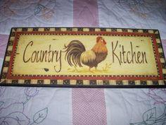 21x8 5 Rooster Kitchen Decor   eBay