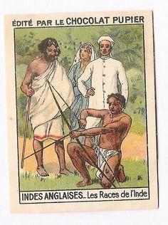 Indes Anglaises Asie - Les races de l  Inde - Image Chocolat Pupier (1938/39)