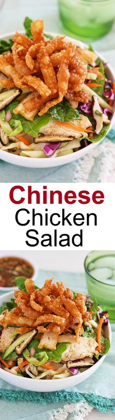 Chinese Chicken Salad – healthy salad with chicken breast and Chinese dressings. Homemade tastes better than restaurants & cheaper | rasamalaysia.com