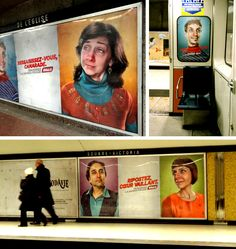 HALL's winter campaign...Montreal Metro stations. Victoria, Metro Station, Montreal, Campaign, Baseball Cards, Winter, Winter Time, Winter Fashion