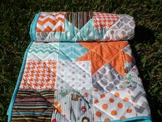 Woodland Baby quiltpatchwork crib quiltbaby boy by happyquilts