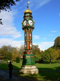 Edwardian clock and tower, Borough Gardens, Dorchester        This superb timepiece was presented to the town by Charles Hansford Esq. in 1905