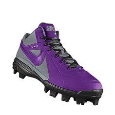 boys purple baseball cleats