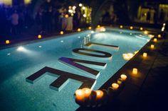 decoracion piscina boda - Buscar con Google