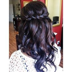 curly braided dark hair Hairstyles and Beauty Tips ❤ liked on Polyvore