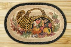 """Cornucopia Braided Area Rug - Licensed Art Braided Rug Collection Size is 20"""" x 30"""" 100 % Natural Jute. Beautiful Art Scene. Are On Sale Now!!!!"""