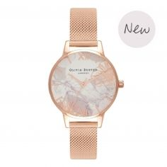 7810b5d10 Abstract Florals Rose Gold Mesh Watch Gold Watches Women, Rose Gold Watches,  Women's Watches