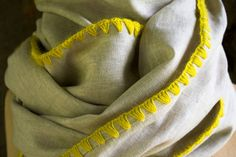Edged Linen Wrap | The Purl Bee