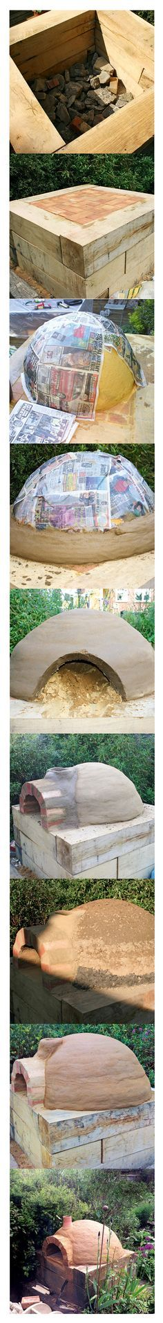 Four à pizza bois : How to build a wood-fired pizza oven Diy Pizza Oven, Pizza Oven Outdoor, Outdoor Cooking, Pizza Ovens, Backyard Projects, Outdoor Projects, Garden Projects, Back Gardens, Outdoor Gardens
