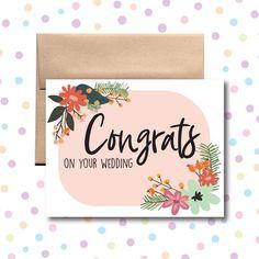 Congrats On Your Wedding, Happy Wedding Anniversary Cards, Congrats On Your Engagement, Engagement Cards, Wedding Wishes, Wedding Cards, Wedding Messages, Hearty Congratulations, Happy Sabbath