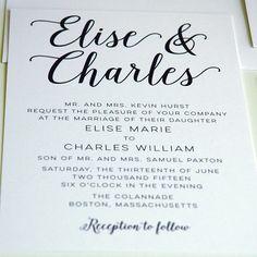 Modern Wedding Invitations   Designed By M.E. Stationery