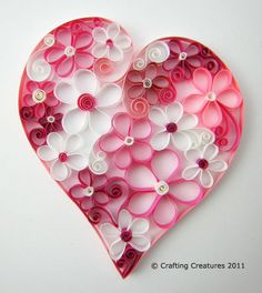 Quilled Heart for card