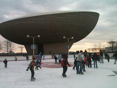 Skating at the Empire State Plaza in Albany, NY!